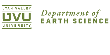 Department of Earth Science, Utah Valley University logo